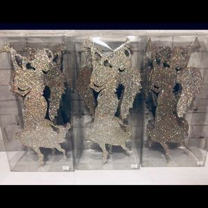 Glittery Silver Christmas Angels